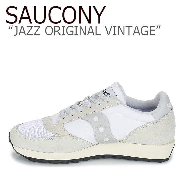 サッカニー ジャズオリジナル スニーカー SAUCONY メンズ レディース JAZZ ORIGINAL VINTAGE ジャズ オリジナル ヴィンテージ WHITE ホワイト S70368-75 シューズ