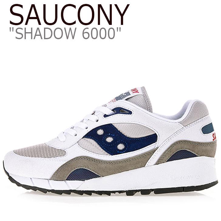 サッカニー スニーカー Saucony メンズ レディース SHADOW 6000 シャドウ6000 WHITE ホワイト NAVY ネイビー S70441-1 シューズ