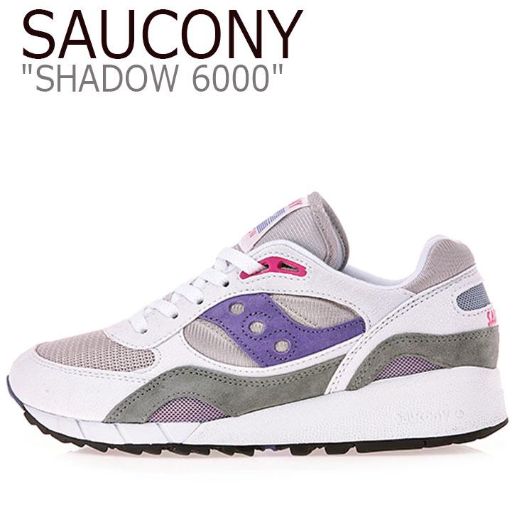 サッカニー スニーカー Saucony メンズ レディース SHADOW 6000 シャドウ6000 WHITE ホワイト PURPLE パープル S70441-2 シューズ