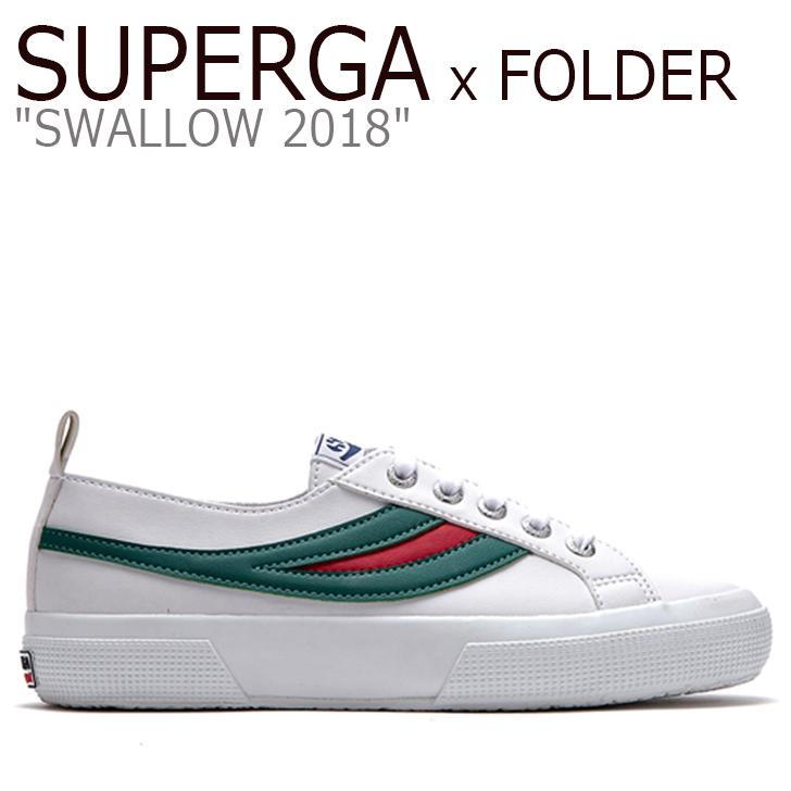 スペルガ x フォルダー スニーカー SUPERGA x FOLDER メンズ レディース SWALLOW 2018 2753 PUU スワロウ2018 GREEN RED グリーン レッド S00ET80907 FLSU8A1U32 シューズ