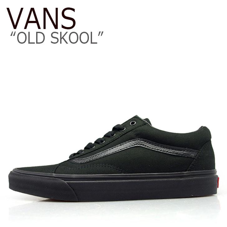 バンズ オールドスクール スニーカー VANS メンズ レディース OLD SKOOL BLACK BLACK (CANVAS) ブラック ブラック(キャンバス) VN-0D3HBKA シューズ