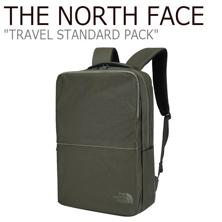 ノースフェイス バックパック THE NORTH FACE メンズ レディース TRAVEL STANDARD PACK トラベル スタンダード パック リュック DARK KHAKI ダークカーキ NEM2DI49 バッグ 【中古】未使用品