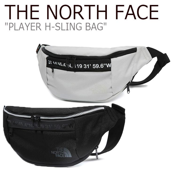 ノースフェイス ウエストバッグ THE NORTH FACE メンズ レディース PLAYER H-SLING BAG プレイヤー Hスリング バッグ ヒップバッグ ホワイト ブラック WHITE BLACK NN2HK07J/K バッグ 【中古】未使用品