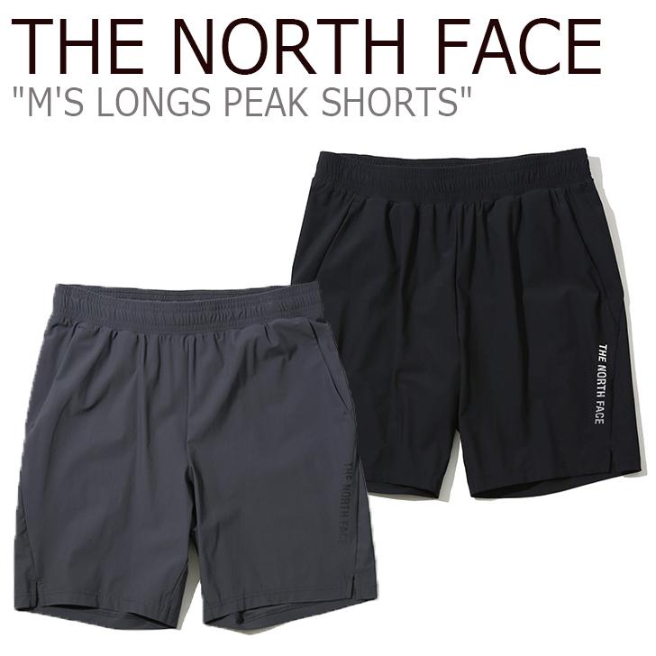 ノースフェイス ショートパンツ THE NORTH FACE メンズ M'S LONGS PEAK SHORTS ロング ピーク ショーツ DARK GRAY BLACK ダークグレー ブラック NS6KK04J/K ウェア 【中古】未使用品