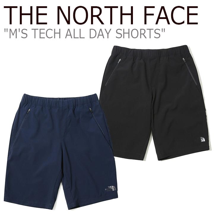 ノースフェイス ショートパンツ THE NORTH FACE メンズ M'S TECH ALL DAY SHORTS テック オールデー ショーツ NAVY BLACK ネイビー ブラック NS6NK02J/K ウェア 【中古】未使用品