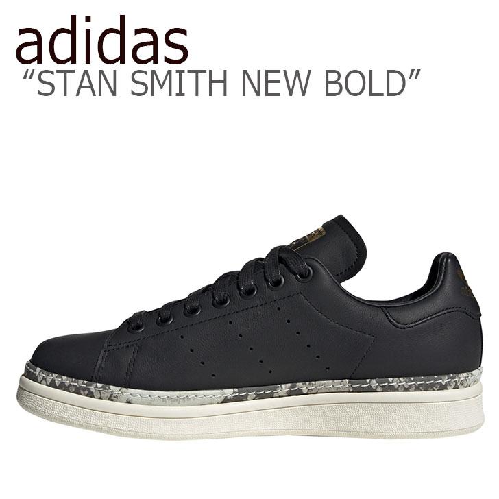 アディダス スタンスミス スニーカー adidas メンズ レディース STAN SMITH NEW BOLD スタンスミス ニュー ボールド BLACK ブラック BD8053 シューズ 【中古】未使用品