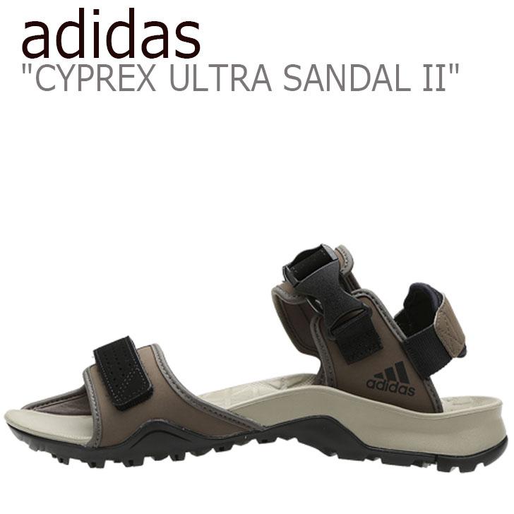 アディダス サンダル adidas メンズ CYPREX ULTRA SANDAL II テレックス サイプレックス ウルトラサンダル2 CORE BLACK コアブラック TECH BEIGE テックベージュ CM7525 シューズ 【中古】未使用品