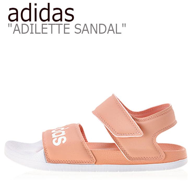 アディダス サンダル adidas レディース ADILETTE SANDAL アディレッタ サンダル PINK ピンク EE4109 シューズ 【中古】未使用品
