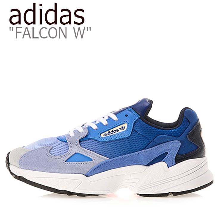 アディダス スニーカー adidas レディース FALCON W ファルコン W BLUE ブルー EE5104 シューズ 【中古】未使用品