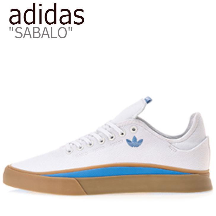 アディダス スニーカー adidas メンズ SABALO サバロ WHITE ホワイト EE6095 シューズ 【中古】未使用品