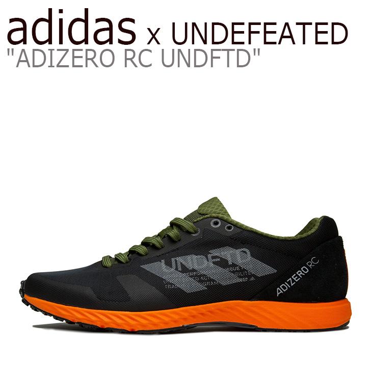 アディダス スニーカー adidas x UNDEFEATED メンズ ADIZERO RC UNDFTD アンディフィーテッド アディゼロ RC BLACK ブラック G26648 シューズ 【中古】未使用品