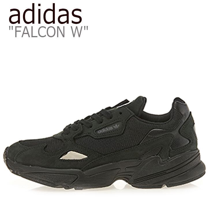 アディダス スニーカー adidas メンズ レディース FALCON W ファルコン W BLACK ブラック G26880 シューズ 【中古】未使用品