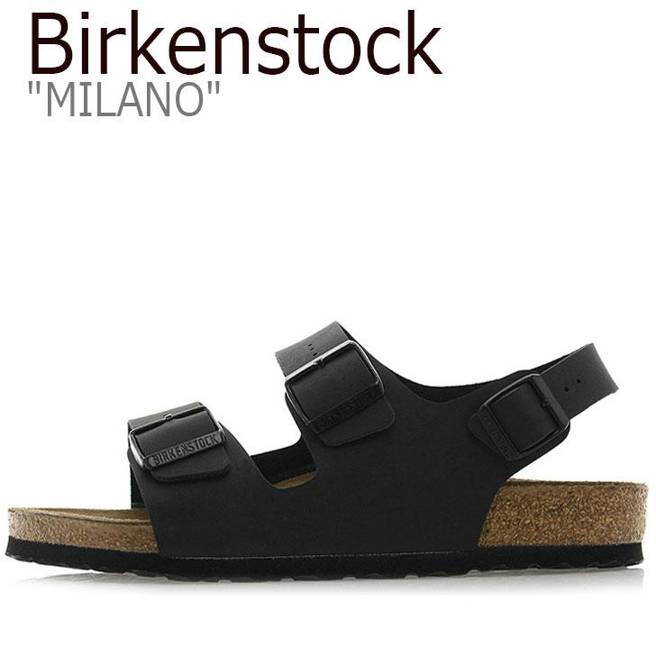 ビルケンシュトック サンダル BIRKENSTOCK メンズ MILANO ミラノ BLACK ブラック 034791 シューズ 【中古】未使用品