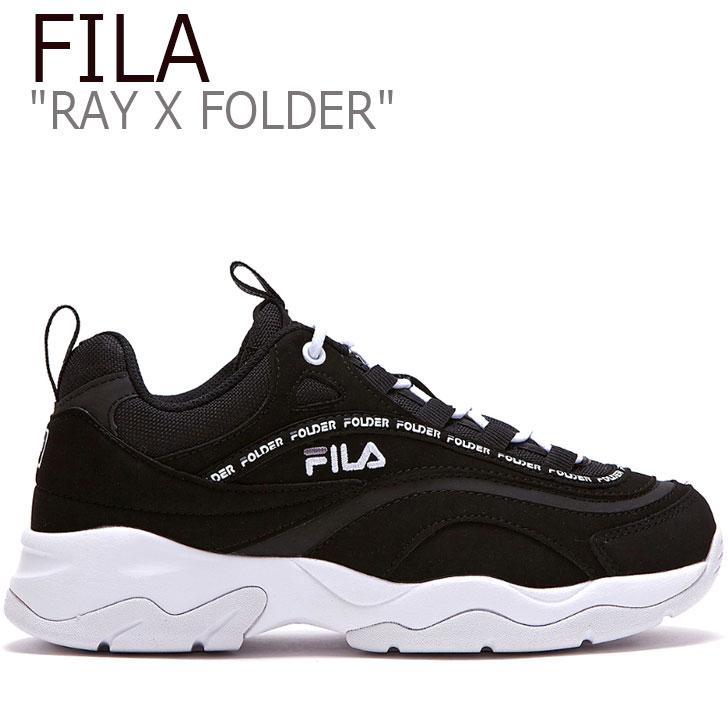 フィラ レイ スニーカー FILA メンズ レディース RAY X FOLDER TAPEY TAPE レイ X フォルダー テーピー テープ BLACK ブラック FLFL9S2U06 FS1SIB1913X シューズ