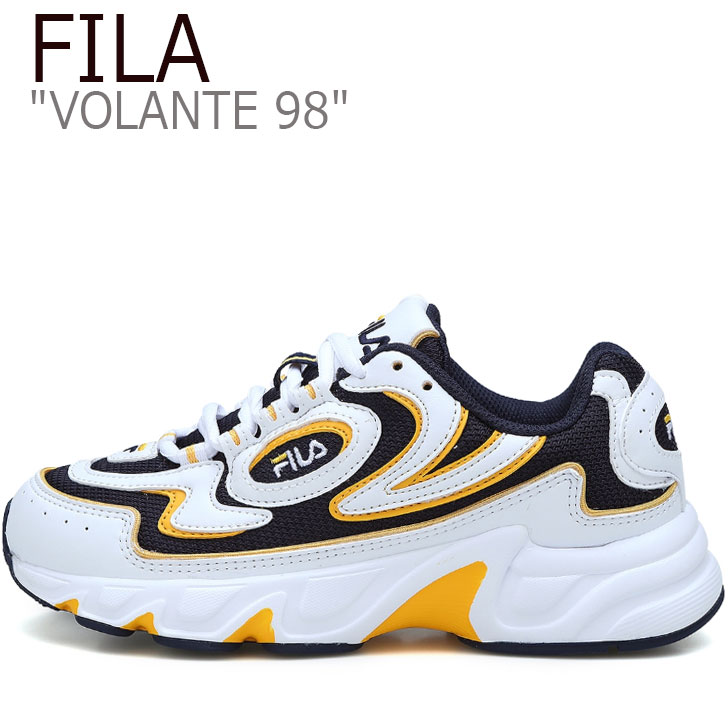 フィラ スニーカー FILA メンズ レディース VOLANTE 98 ボランチ98 WHITE ホワイト NAVY ネイビー YELLOW イエロー FS1HTA3062X シューズ