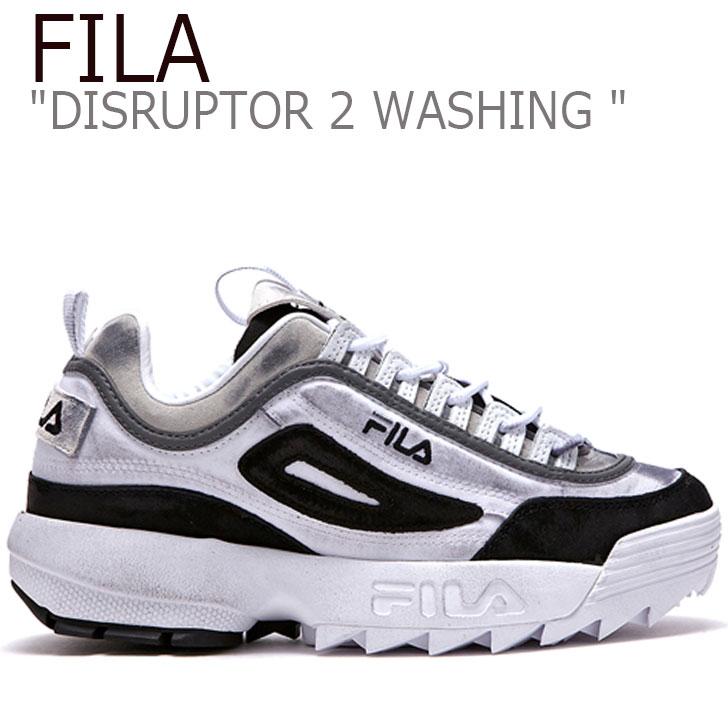 フィラ ディスラプター スニーカー FILA メンズ レディース DISRUPTOR 2 WASHING ディスラプター2 ウォッシング WHITE ホワイト BLACK ブラック FLFL9S1U24 FS1HTA3111X シューズ