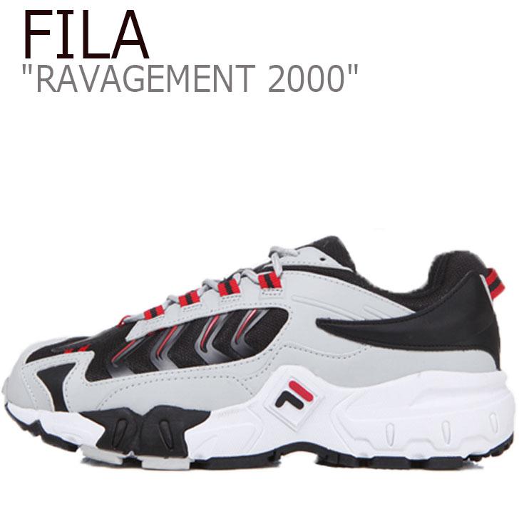 フィラ スニーカー FILA メンズ レディース RAVAGEMENT 2000 ラビージメント 2000 WHITE ホワイト BLACK ブラック FS1HTB1001X シューズ