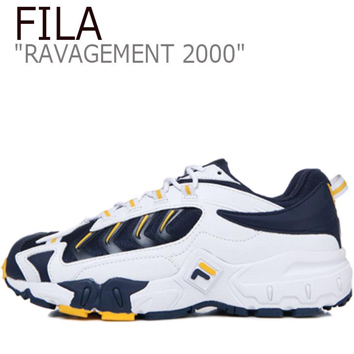 フィラ スニーカー FILA メンズ レディース RAVAGEMENT 2000 ラビージメント 2000 WHITE ホワイト NAVY ネイビー FS1HTB1002X シューズ