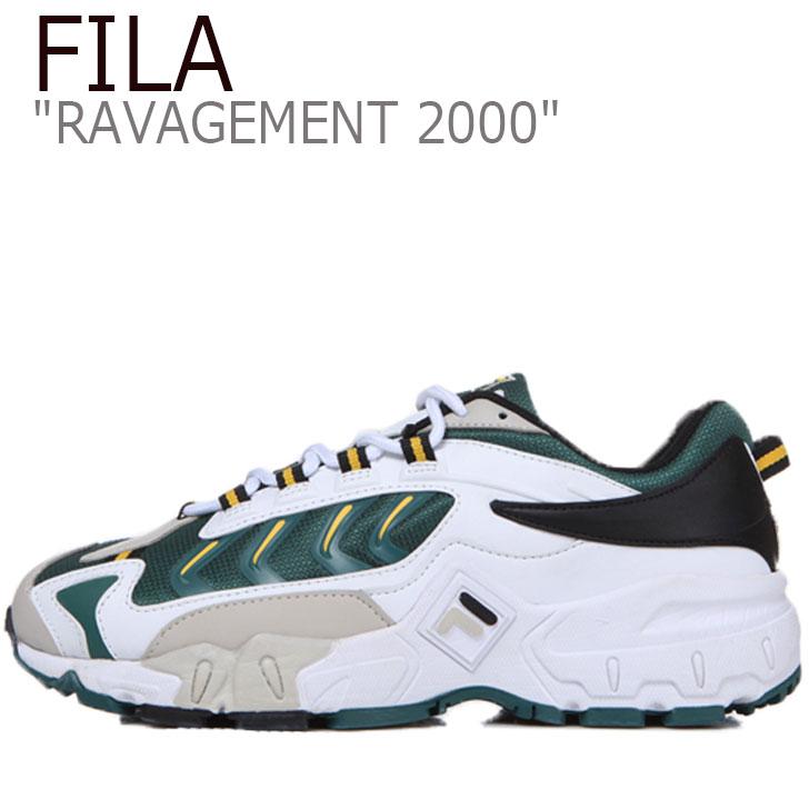 フィラ スニーカー FILA メンズ レディース RAVAGEMENT 2000 ラビージメント 2000 WHITE ホワイト GREEN グリーン FS1HTB1003X シューズ