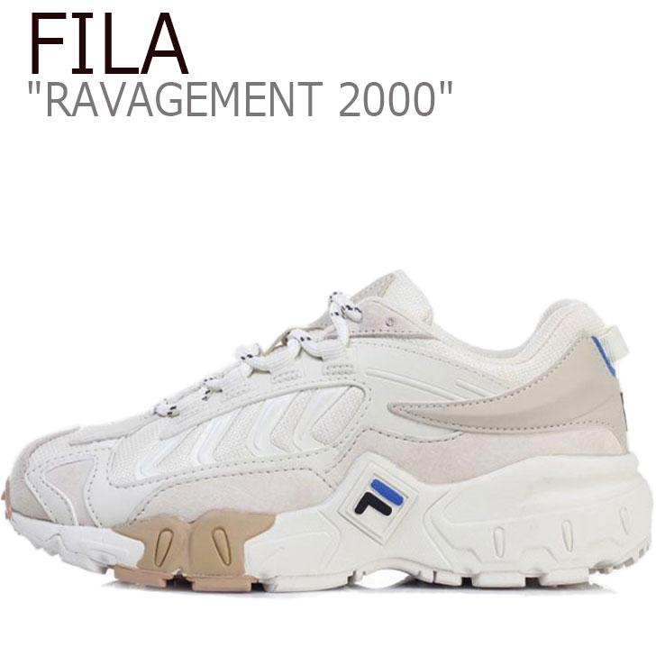 2000 メンズ レディース シューズ RAVAGEMENT FS1HTB1006X スニーカー FILA WHITE ホワイト 2000 フィラ BLUE ブルー ラビージメント