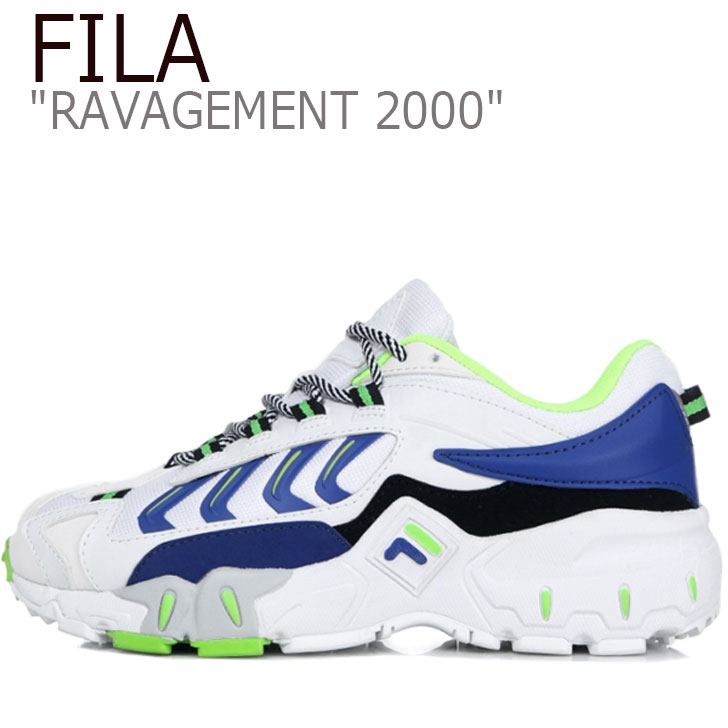 フィラ スニーカー FILA メンズ レディース RAVAGEMENT 2000 ラビージメント 2000 WHITE ホワイト BLUE ブルー FS1HTB1008X シューズ