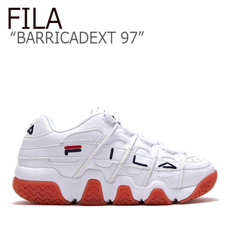 フィラ スニーカー FILA メンズ レディース BARRICADEXT 97 バリケードXT 97 WHITE ホワイト FLFL9A1U44 FS1HTB1056X シューズ