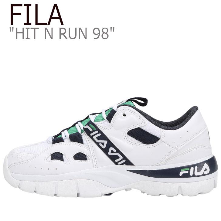 フィラ スニーカー FILA メンズ レディース HIT N RUN ヒットアンドラン ダッドシューズ WHITE ホワイト NAVY ネイビー FS1HTB1062X シューズ