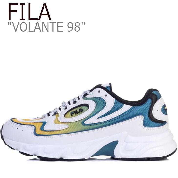 フィラ スニーカー FILA メンズ レディース VOLANTE 98 ボランチ98 WHITE ホワイト GREEN グリーン YELLOW イエロー FS1HTB1176X シューズ