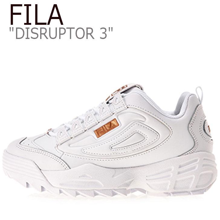 3 スニーカー FILA シューズ DISRUPTOR レディース フィラ FS1HTB1221X ゴールド ディスラプター GOLD WHITE ホワイト ディスラプター3