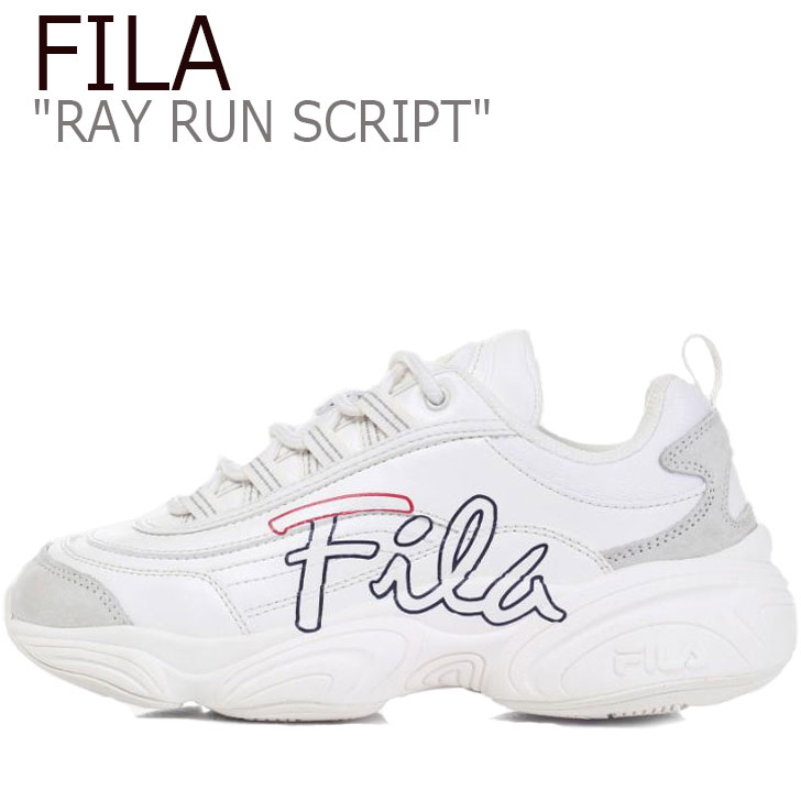 フィラ レイ スニーカー FILA メンズ レディース RAY RUN SCRIPT レイ ラン スクリプト BEIGE ベージュ FS1SIB1392X シューズ