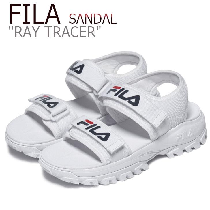 フィラ サンダル FILA メンズ レディース RAY TRACER SANDAL レイトレーサーサンダル WHITE ホワイト FS1SIB2010X シューズ