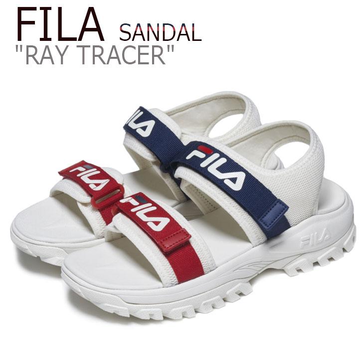 フィラ サンダル FILA メンズ レディース RAY TRACER SANDAL レイトレーサーサンダル WHITE ホワイト NAVY ネイビー RED レッド FS1SIB2012X シューズ