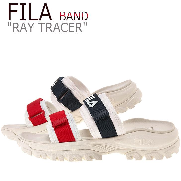 フィラ サンダル FILA メンズ レディース RAY TRACER BAND レイトレーサーバンド WHITE ホワイト NAVY ネイビー RED レッド FS1SIB2031X シューズ