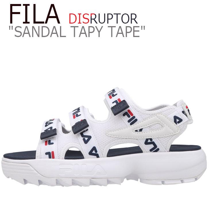 フィラ ディスラプター サンダル FILA メンズ レディース DISRUPTOR SANDAL TAPY TAPE ディスラプターサンダル テーピーテープ WHITE ホワイト NAVY ネイビー FS1SPB2014X シューズ