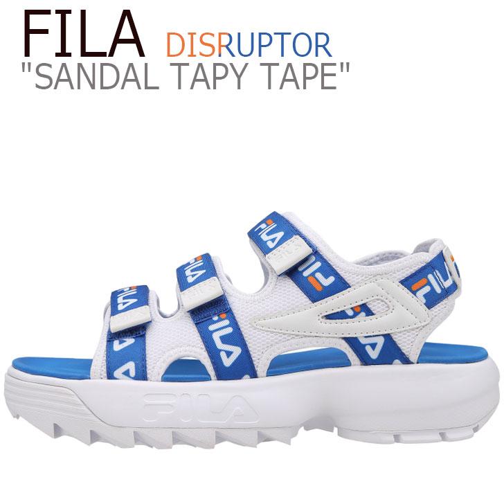 フィラ ディスラプター サンダル FILA メンズ レディース DISRUPTOR SANDAL TAPY TAPE ディスラプターサンダル テーピーテープ WHITE ホワイト BLUE ブルー FS1SPB2015X シューズ
