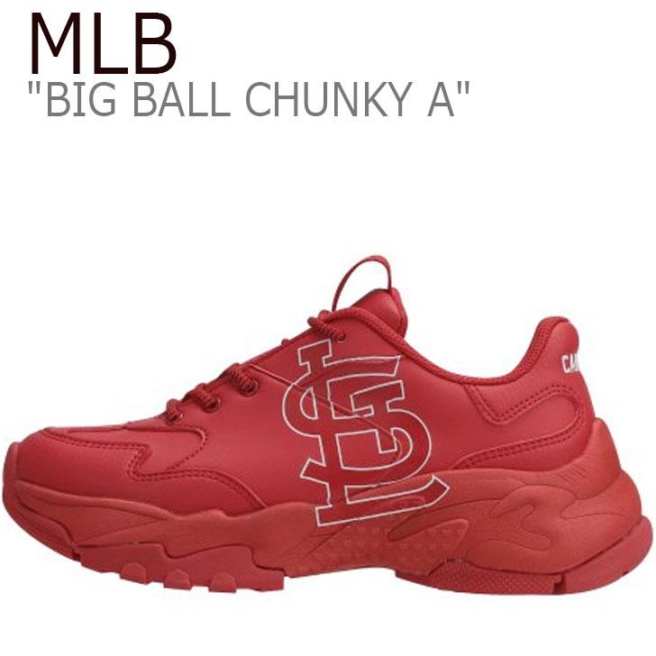 エムエルビー スニーカー MLB レディース BIG BALL CHUNKY A ビッグ ボール チャンキー A RED レッド St.LOUIS CARDINALS セントルイスカージナルズ 32SHC1911-12R シューズ
