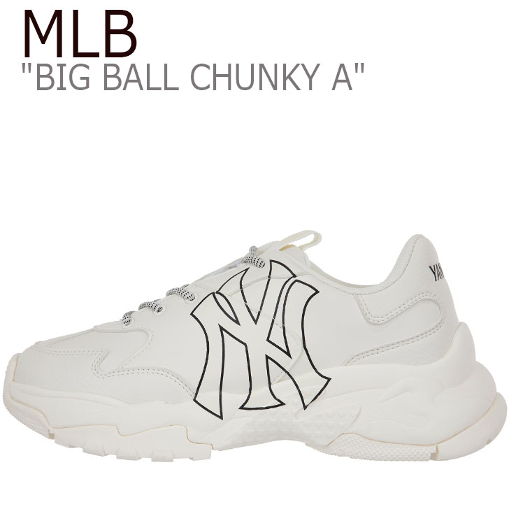 エムエルビー スニーカー MLB メンズ レディース BIG BALL CHUNKY A ビッグ ボール チャンキー A WHITE ホワイト NEW YORK YANKEES ニューヨークヤンキース 32SHC1911-50I 32SHC1941-50I シューズ