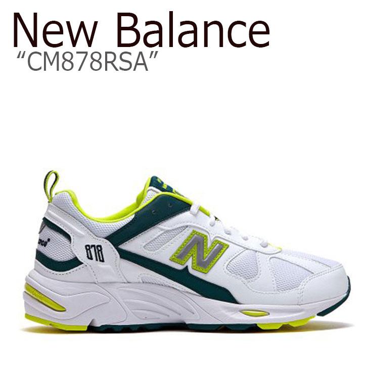 ニューバランス 878 スニーカー New Balance メンズ レディース CM878RSA New Balance868 WHITE LIMEGREEN ホワイト ライムグリーン NBPD9S408W シューズ 【中古】未使用品