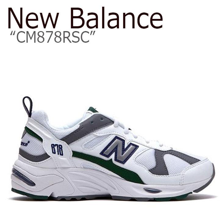 ニューバランス 878 スニーカー New Balance メンズ レディース CM878RSC New Balance868 WHITE GREEN ホワイト グリーン NBPD9S409W シューズ 【中古】未使用品