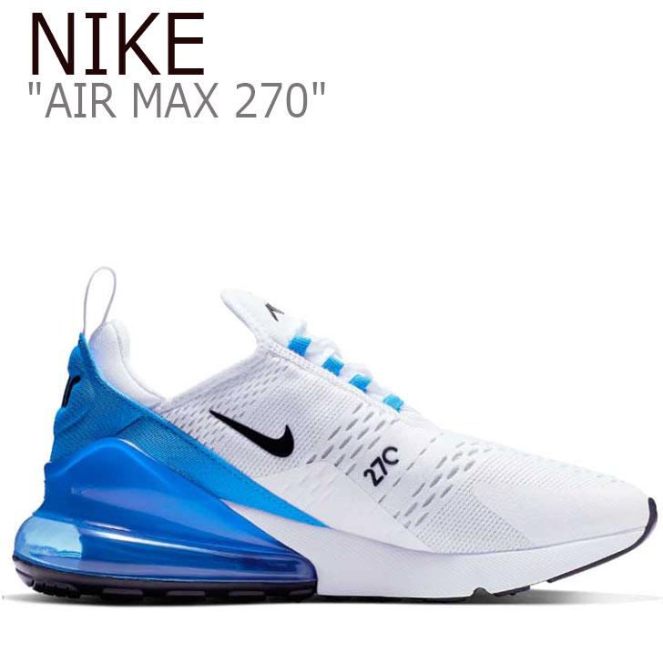 ナイキ スニーカー NIKE メンズ AIR MAX 270 エアマックス 270 WHITE ホワイト BLUE ブルー AH8050-110 シューズ 【中古】未使用品