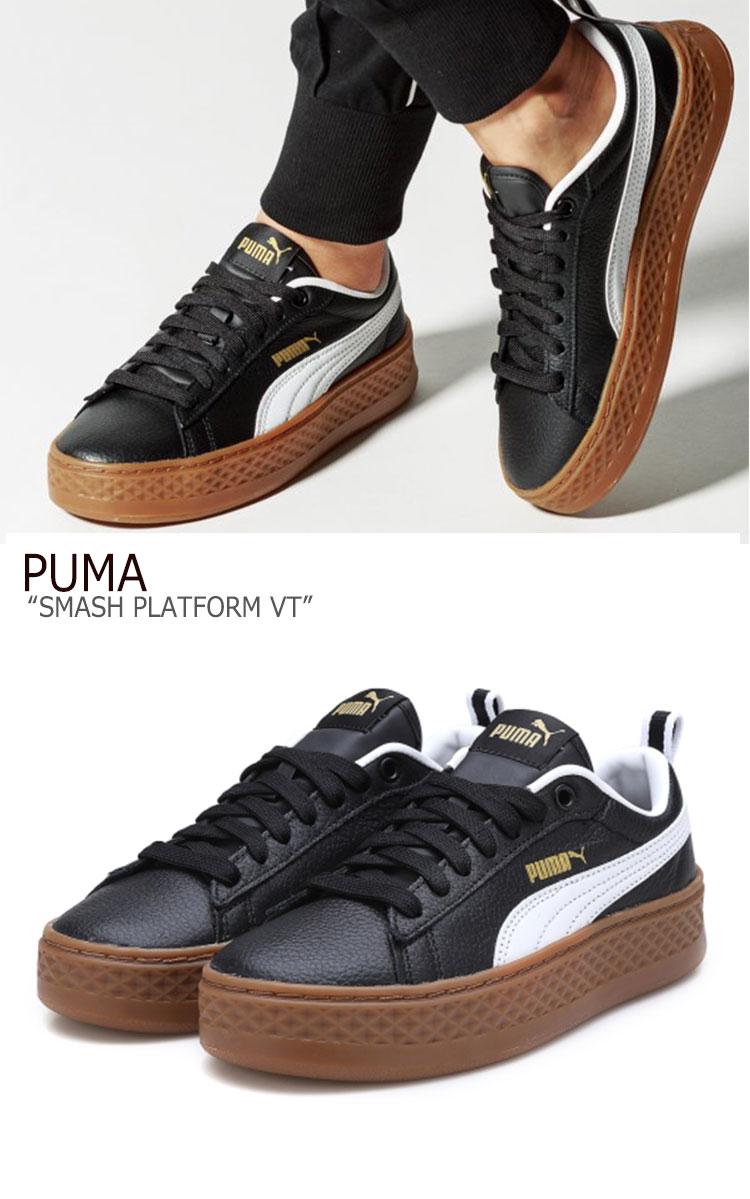 Puma sneakers PUMA Lady's SMASH PLATFORM VT smash platform VT BLACK black 36692603 shoes free article