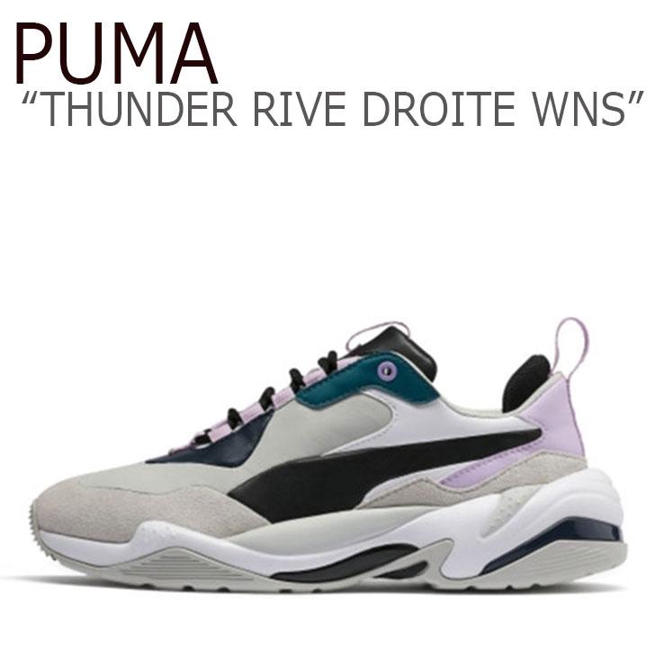 プーマ スニーカー PUMA メンズ レディース THUNDER RIVE DROITE WNS サンダー ライブ ドロイト ウーマン GREY PURPLE グレー パープル 36945201 シューズ 【中古】未使用品