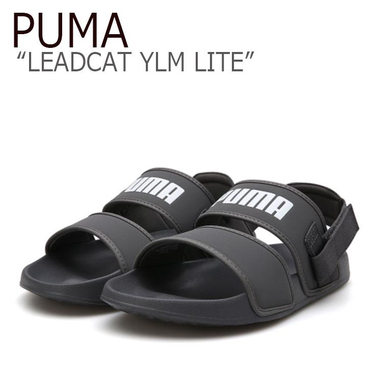 プーマ サンダル PUMA メンズ レディース PUMA×HYUNA LEADCAT YLM LITE リードキャット YLM ライト GREY グレー 37073302 シューズ 【中古】未使用品