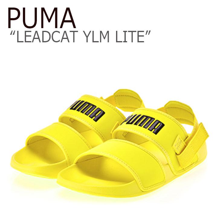 メンズ PUMA×HYUNA プーマ レディース リードキャット ライト 37073304 シューズ イエロー YELLOW LEADCAT サンダル 【中古】未使用品 LITE YLM PUMA YLM