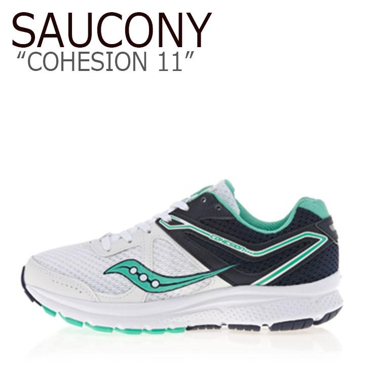 サッカニー スニーカー SAUCONY メンズ レディース COHESION 11 コヒージョン 11 WHITE NAVY ホワイト ネイビー S10421-1 シューズ