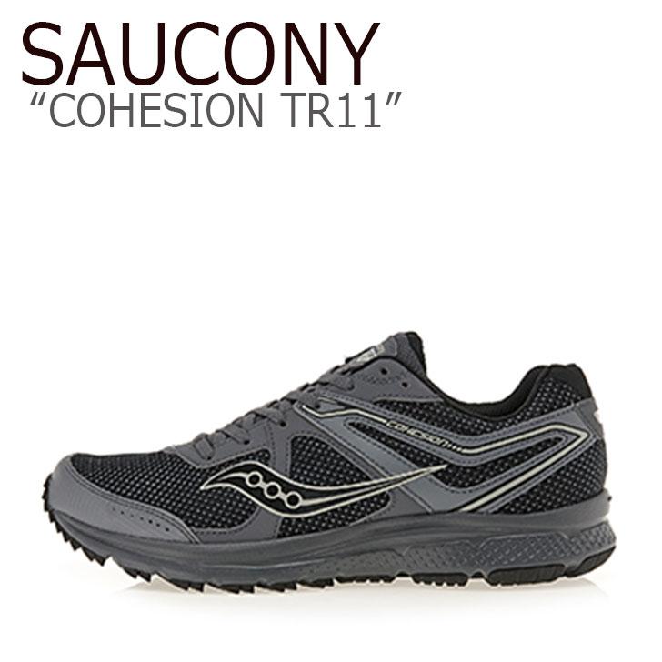 サッカニー スニーカー SAUCONY メンズ COHESION TR11 コヒージョン TR11 CHARCOAL BLACK ブラック チャコール S20427-4 シューズ