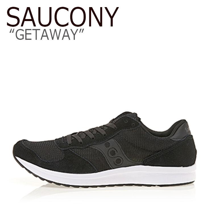 サッカニー スニーカー SAUCONY メンズ GETAWAY ゲットアウェイ BLACK ブラック S40025-1 シューズ