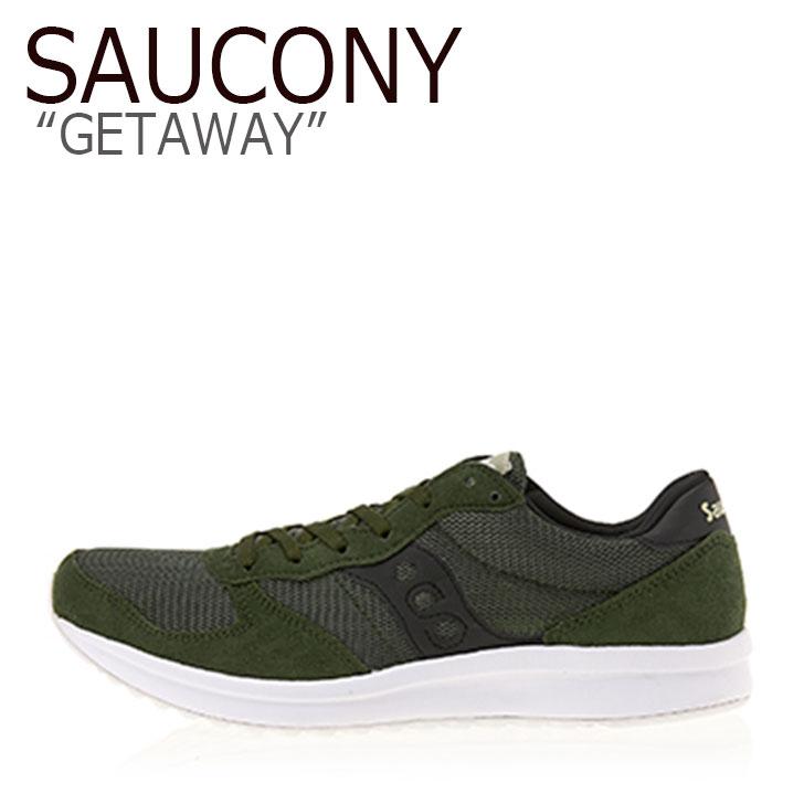 サッカニー スニーカー SAUCONY メンズ GETAWAY ゲットアウェイ GREEN グリーン S40025-22 シューズ