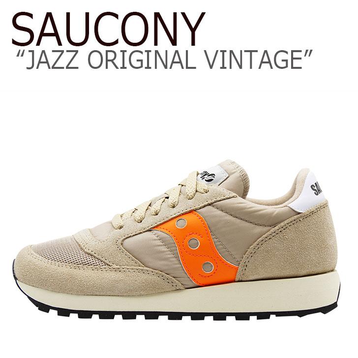 サッカニー ジャズオリジナル スニーカー SAUCONY メンズ JAZZ ORIGINAL VINTAGE ジャズ オリジナル ヴィンテージ TAN ORANGE タン オレンジ S70368-50 シューズ