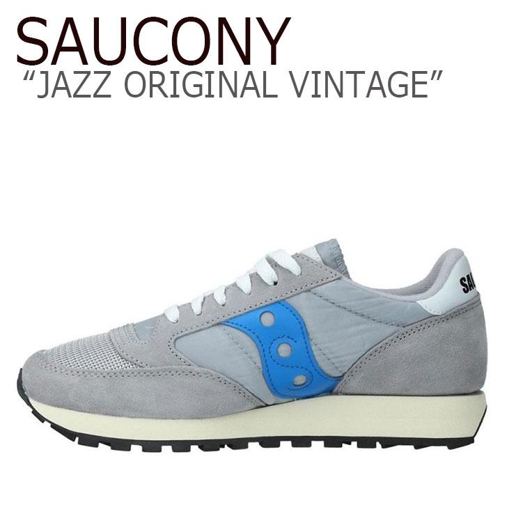 サッカニー ジャズオリジナル スニーカー SAUCONY メンズ JAZZ ORIGINAL VINTAGE ジャズ オリジナル ヴィンテージ GREY BLUE グレー ブルー S70368-72 シューズ